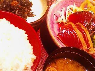 麹蔵・厳選鰹のたたき定食