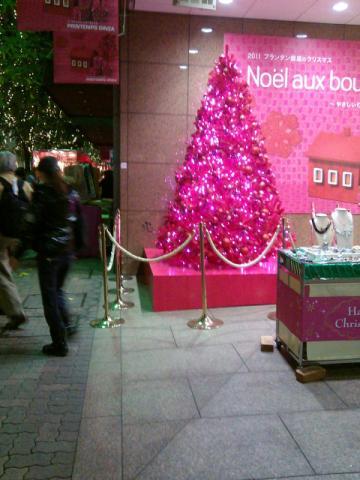 プランタン銀座クリスマスツリー携帯